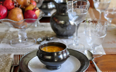 Butternut Squash Soup with Apple, Sage and Bacon