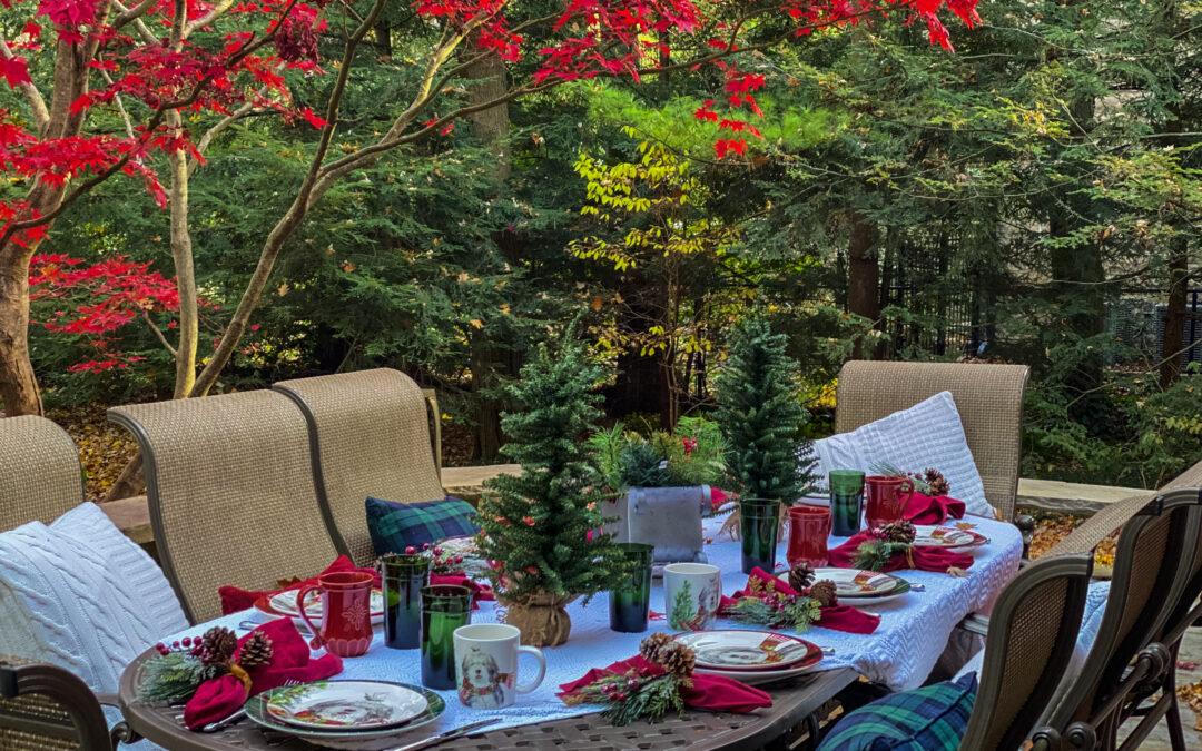 A Carpe Diem Festive Outdoor Tablesetting