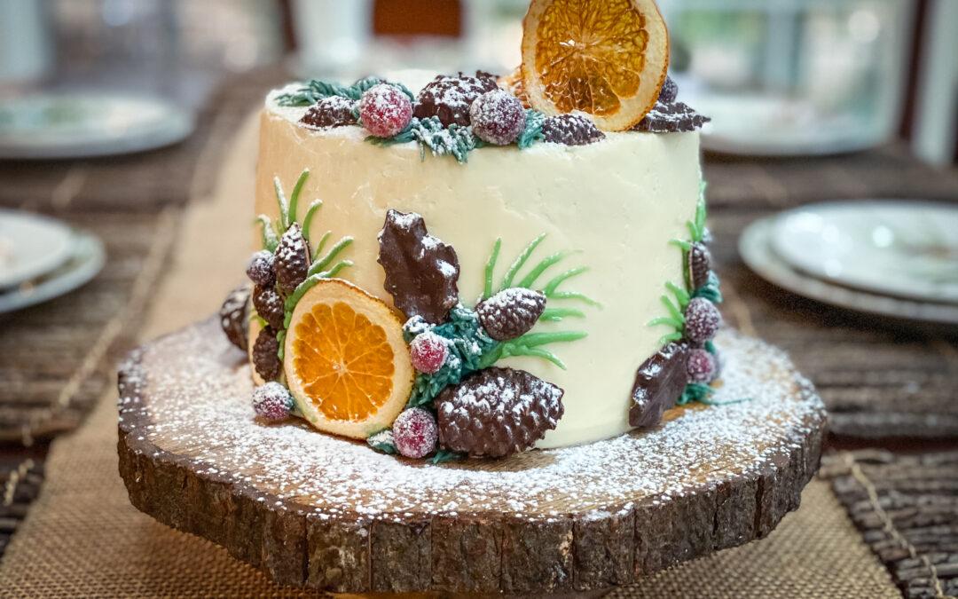 A Festive Chocolate Orange Cake