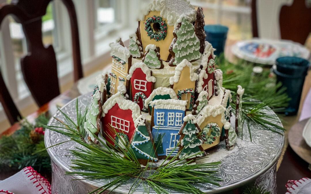 Gingerbread Village Spice Cake