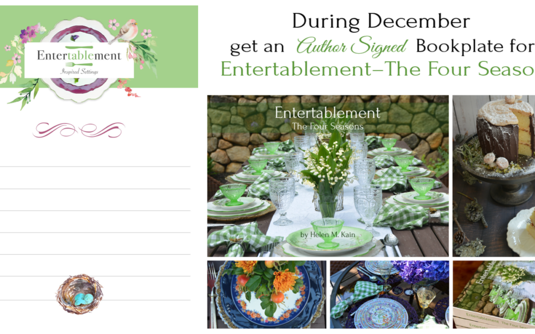 Free Author-Signed Bookplate for Entertablement – The Four Seasons