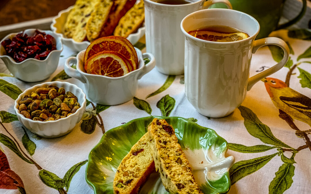 Cranberry, Pistachio & Orange Biscotti