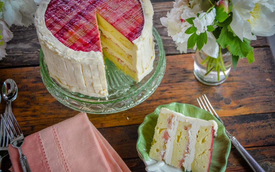 Rhubarb Tartan Cake