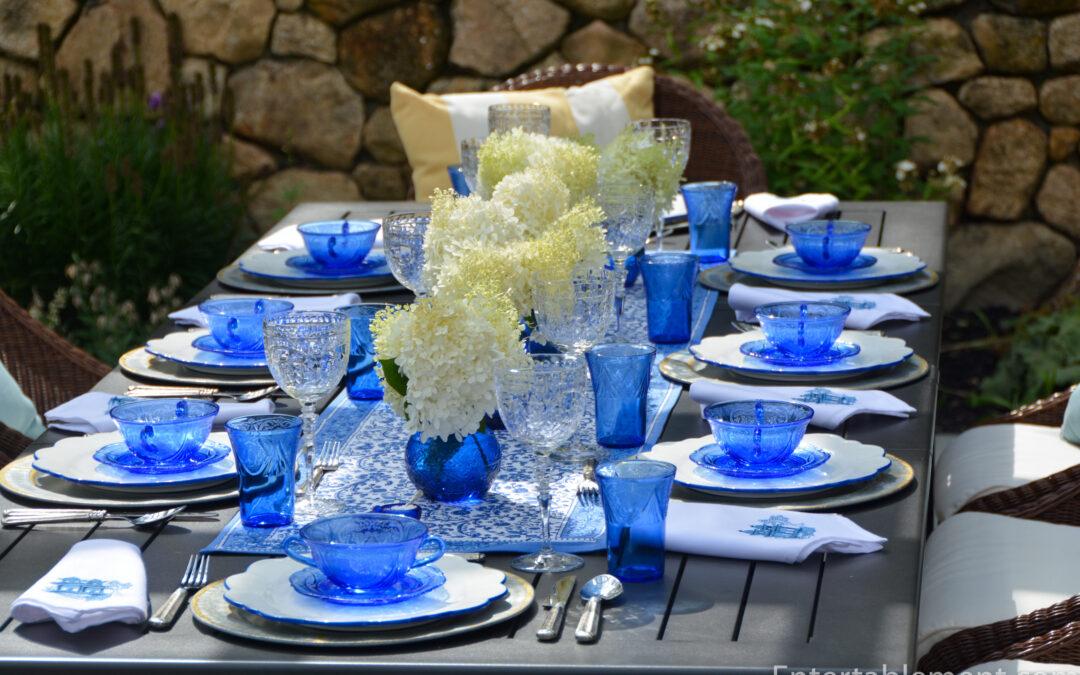 Cobalt Blue for a Summer Outdoor Dinner