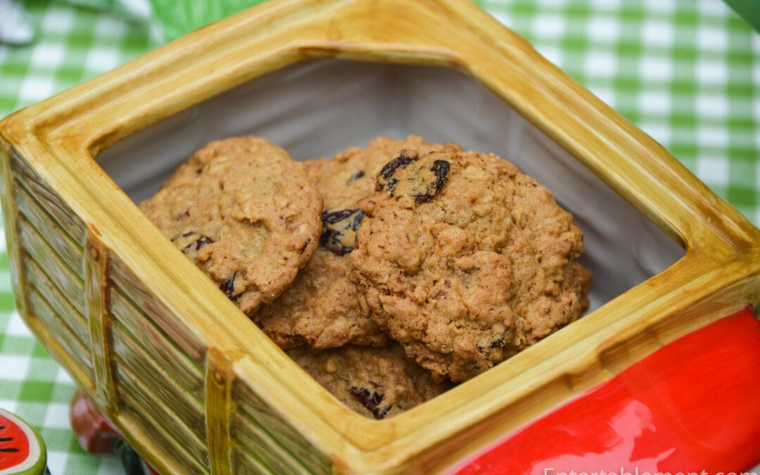 Cherry Pecan Oatmeal Cookies